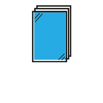 Ulotka reklamowa drukowana metodą cyfrową. Oferujemy projekt graficzny oraz dodatkowe uszlachetnienie. Drukarnia internetowa RGBdruk